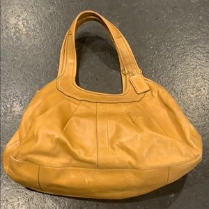 Camel Colored Leather Coach Purse